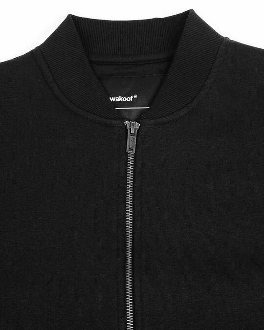 Shop Black Zipper Bomber Jacket