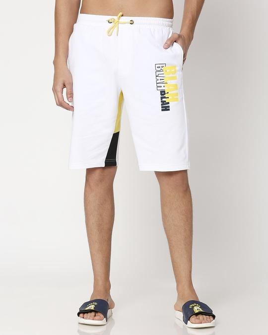 Shop Blah Blah Color Block Shorts-Back