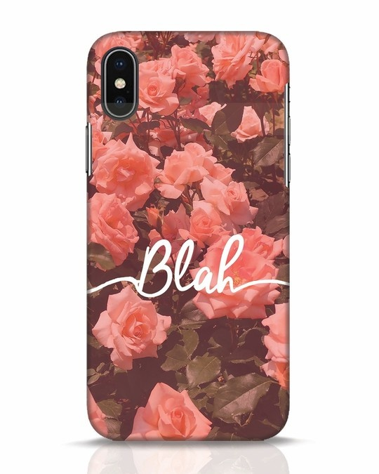 Shop Blah iPhone X Mobile Cover-Front