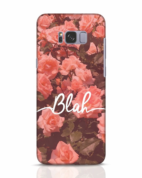 Shop Blah Samsung Galaxy S8 Mobile Cover-Front