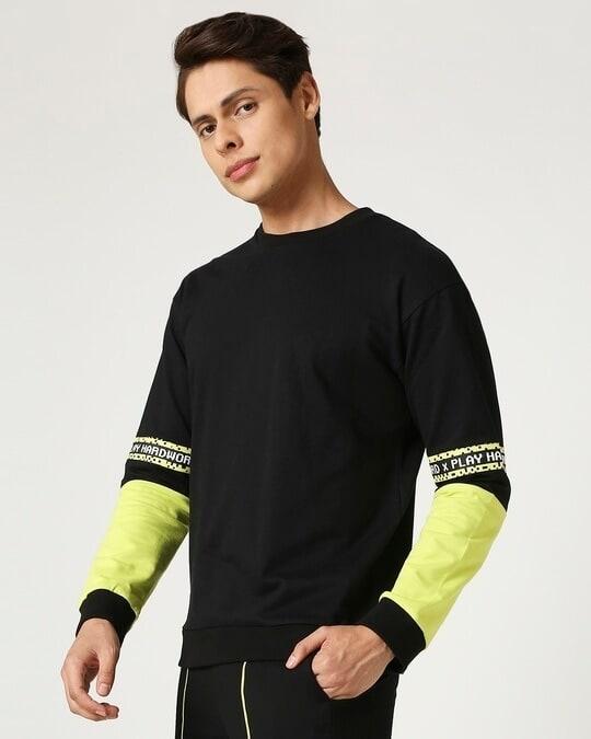 Shop Arcade Green Contrast Sweater-Back