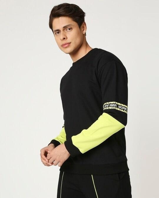 Shop Arcade Green Contrast Sweater-Full
