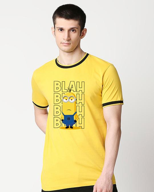 Shop Bleh Blah Round Neck Varsity T-Shirt-Front