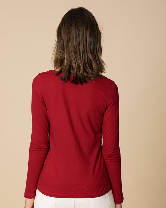 Shop Blessed Bird Scoop Neck Full Sleeve T-Shirt-Back