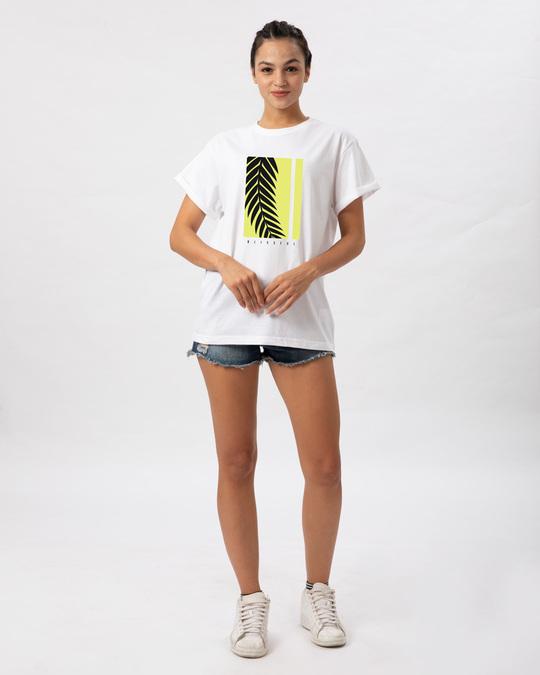 Shop Blissful Palm Tree Boyfriend T-Shirt-Design