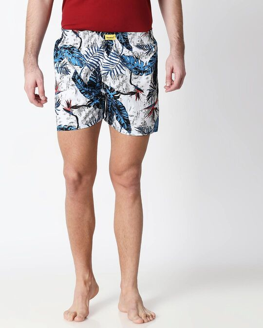 Shop Blissfull Forest Men's Printed Boxers-Front