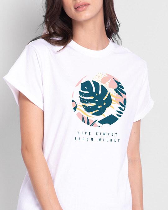 Shop Bloom Wildly Boyfriend T-Shirt-Front