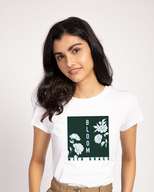 Shop Bloom With Grace Half Sleeve T-Shirt-Front