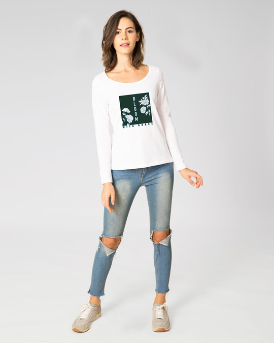 Shop Bloom With Grace Scoop Neck T-Shirt-Design