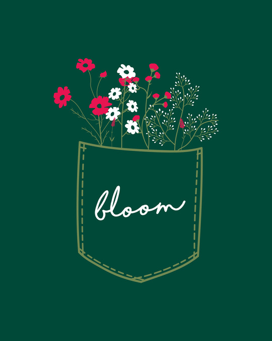 Shop Blooming Wildflowers Round Neck 3/4th Sleeve T-Shirt