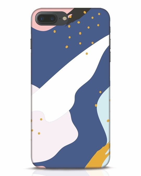 Shop Blue Abstract iPhone 7 Plus Mobile Cover-Front