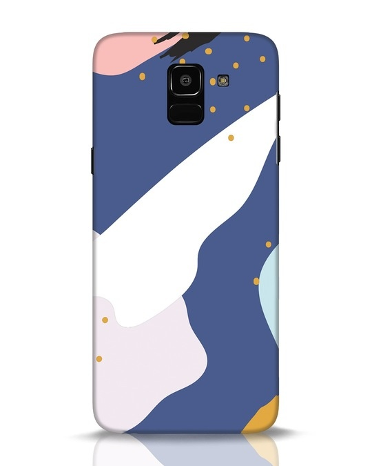 Shop Blue Abstract Samsung Galaxy J6 Mobile Cover-Front