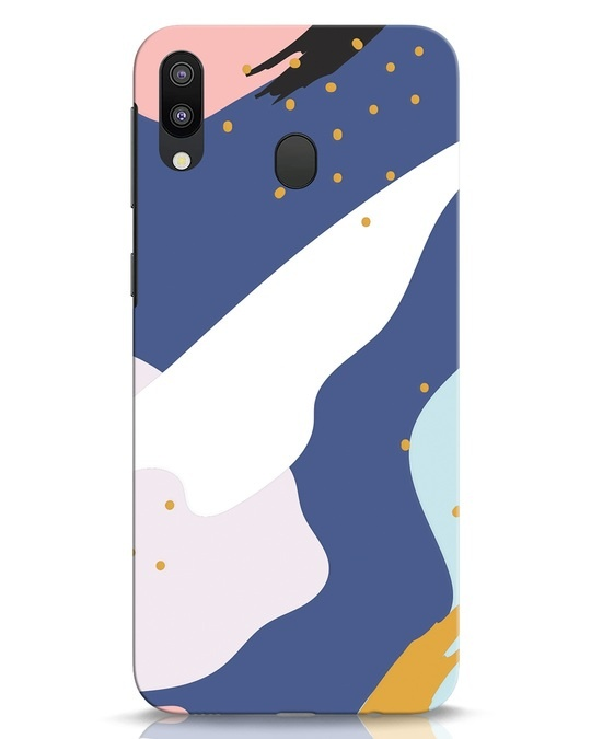 Shop Blue Abstract Samsung Galaxy M20 Mobile Cover-Front