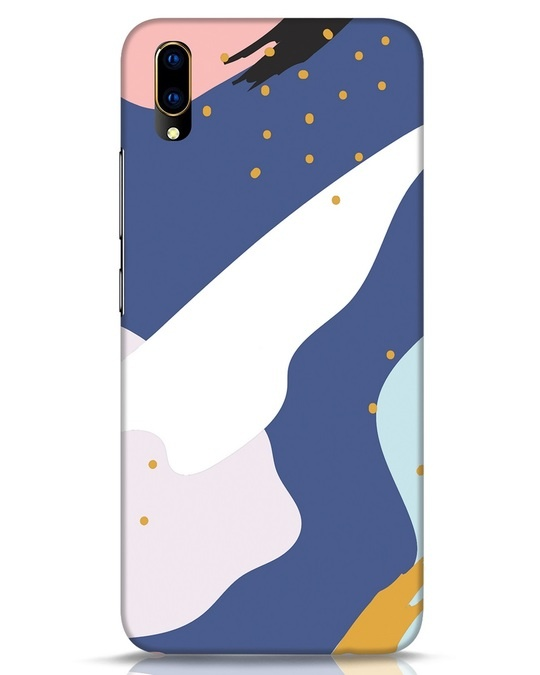Shop Blue Abstract Vivo V11 Pro Mobile Cover-Front