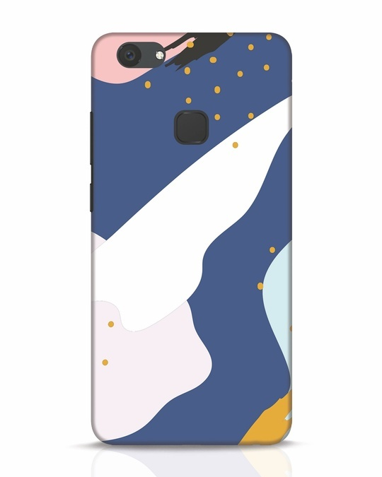 Shop Blue Abstract Vivo V7 Plus Mobile Cover-Front