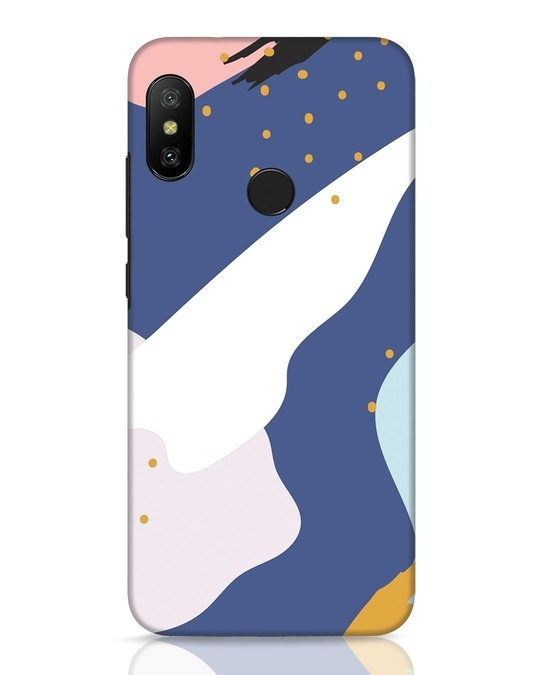 Shop Blue Abstract Xiaomi Redmi 6 Pro Mobile Cover-Front