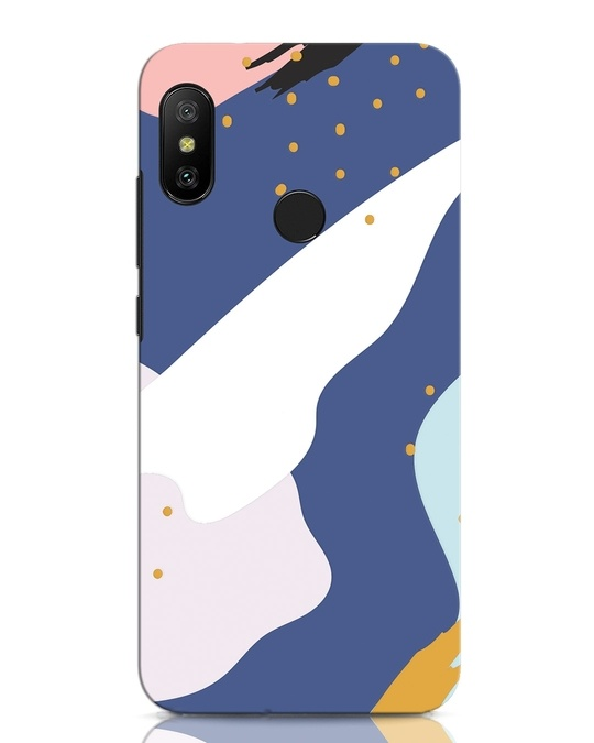 Shop Blue Abstract Xiaomi Redmi Note 6 Pro Mobile Cover-Front