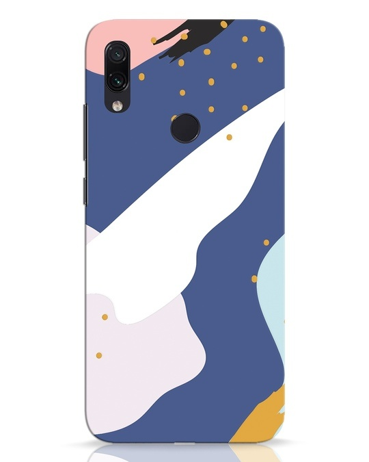 Shop Blue Abstract Xiaomi Redmi Note 7 Pro Mobile Cover-Front