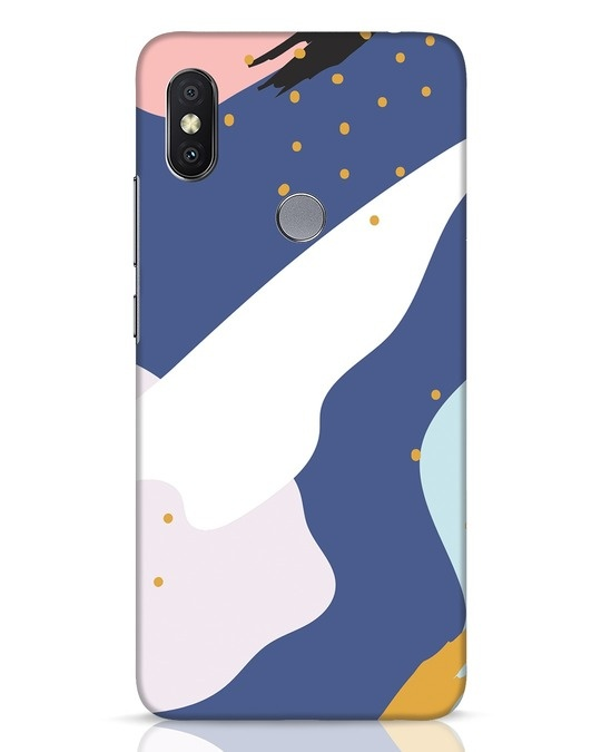 Shop Blue Abstract Xiaomi Redmi Y2 Mobile Cover-Front