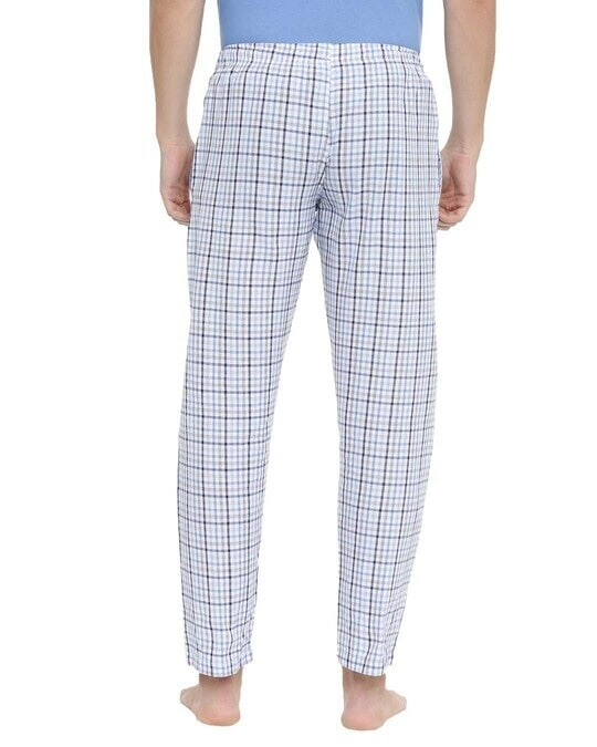 Shop Joven | Blue and White Checked Pyjamas-Full
