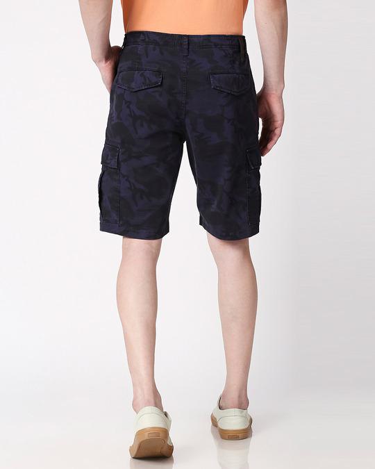 Shop Blue Camo Men's Shorts-Design
