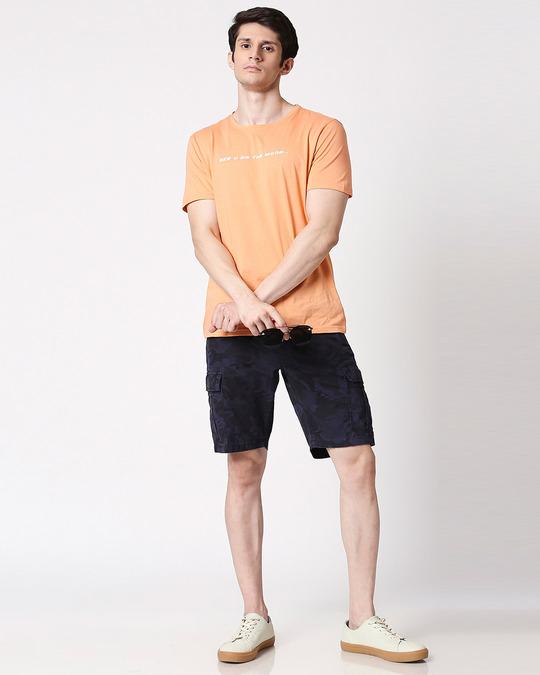Shop Blue Camo Men's Shorts-Full