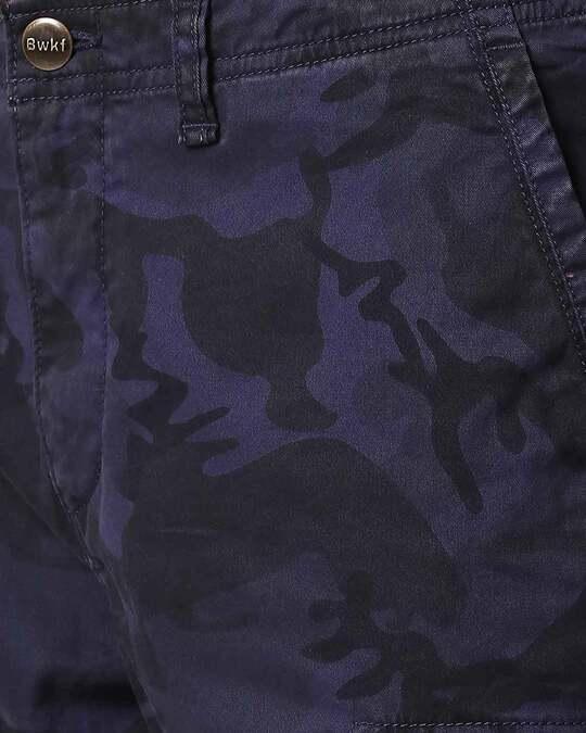 Shop Blue Camo Men's Shorts