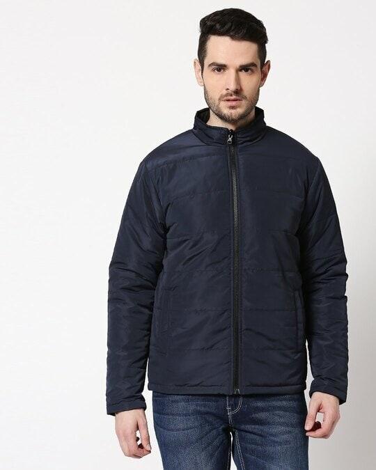 Shop Blue Chill Block Reversible Puffer Jacket-Design