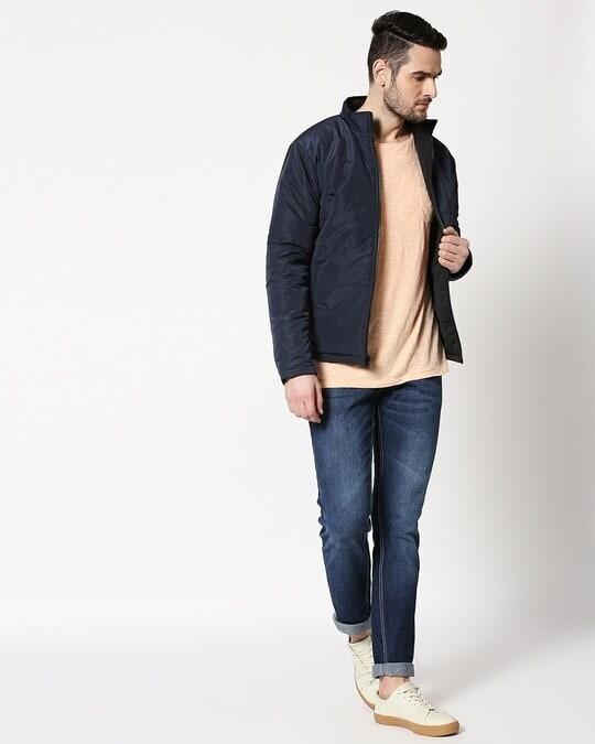 Shop Blue Chill Block Reversible Puffer Jacket