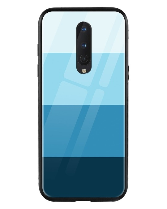 Shop Blue Color Block OnePlus 8 Mobile Cover-Front