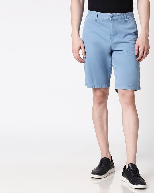 Shop Blue Dust Men's Shorts-Back