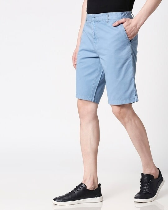 Shop Blue Dust Men's Shorts-Design