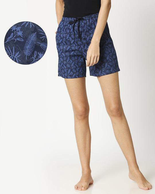 Shop Blue Forest Women's Boxer Shorts-Front