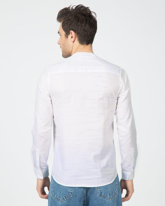 Shop Blue Fox Neps Henley Full Sleeve Shirt-Design
