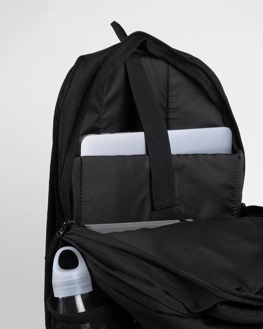 Shop Blue Geomtric Camo Laptop Bag Black