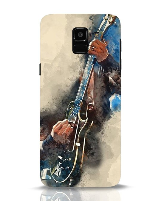 Shop Blue Guitar Samsung Galaxy J6 Mobile Cover-Front