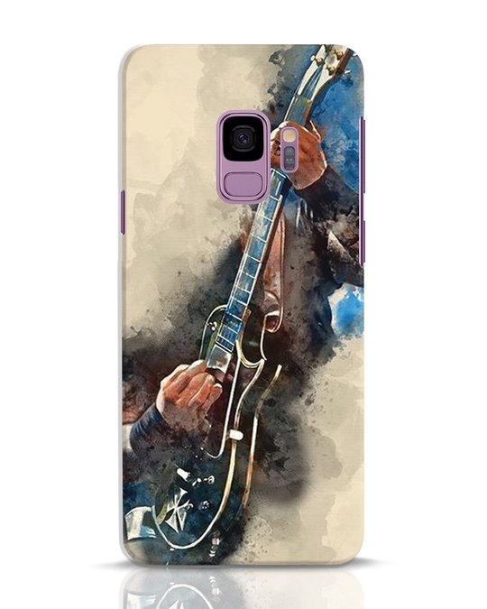 Shop Blue Guitar Samsung Galaxy S9 Mobile Cover-Front