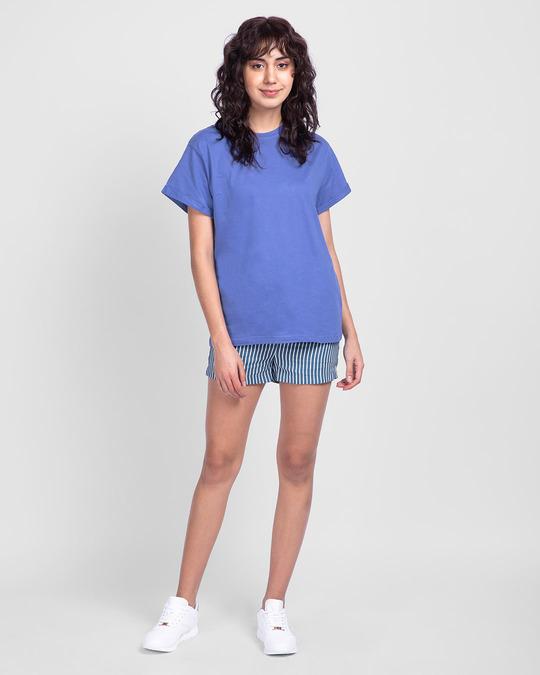 Shop Blue Haze Boyfriend T-Shirt-Full