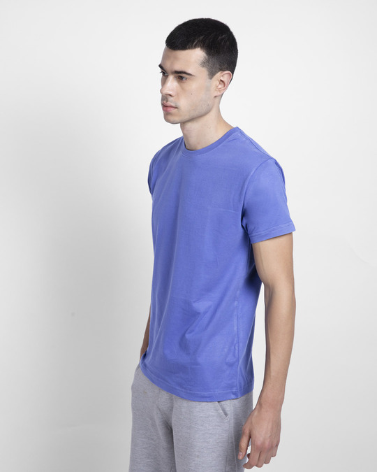 Shop Blue Haze Half Sleeve T-Shirt-Back
