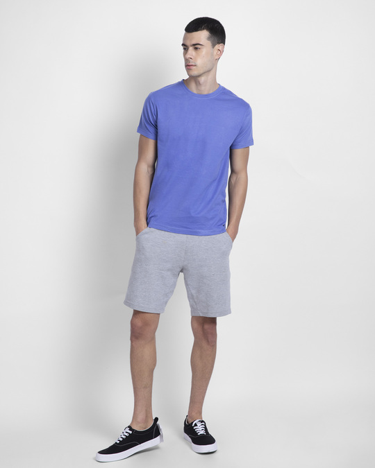 Shop Blue Haze Half Sleeve T-Shirt-Full
