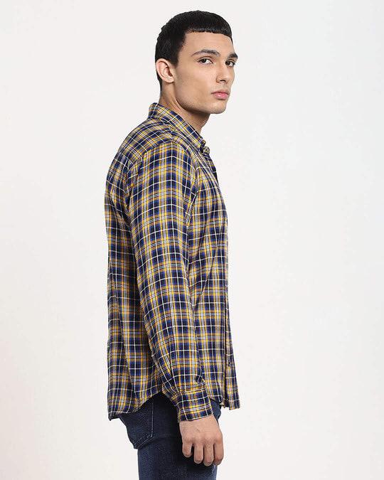 Shop Beige Checks Casual Full Sleeve Shirt-Design