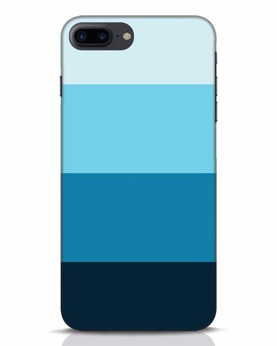 Shop Blue Ombre Stripes iPhone 7 Plus Mobile Cover-Front