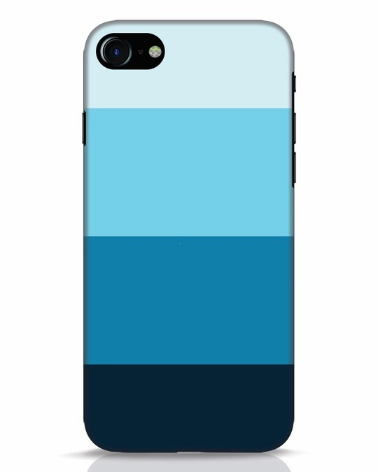 Shop Blue Ombre Stripes iPhone 8 Mobile Cover-Front