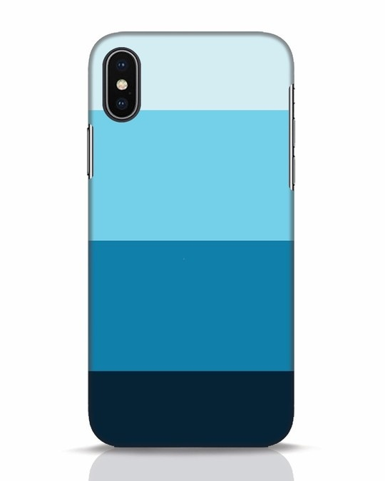 Shop Blue Ombre Stripes iPhone X Mobile Cover-Front