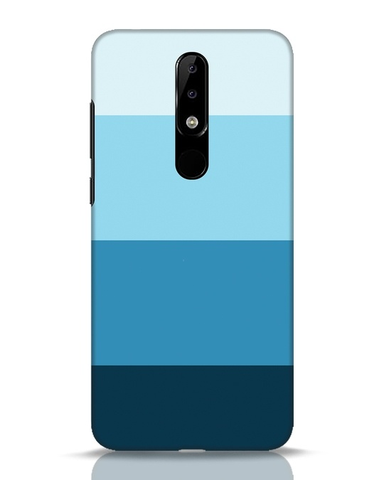 Shop Blue Ombre Stripes Nokia 5.1 Plus Mobile Cover-Front