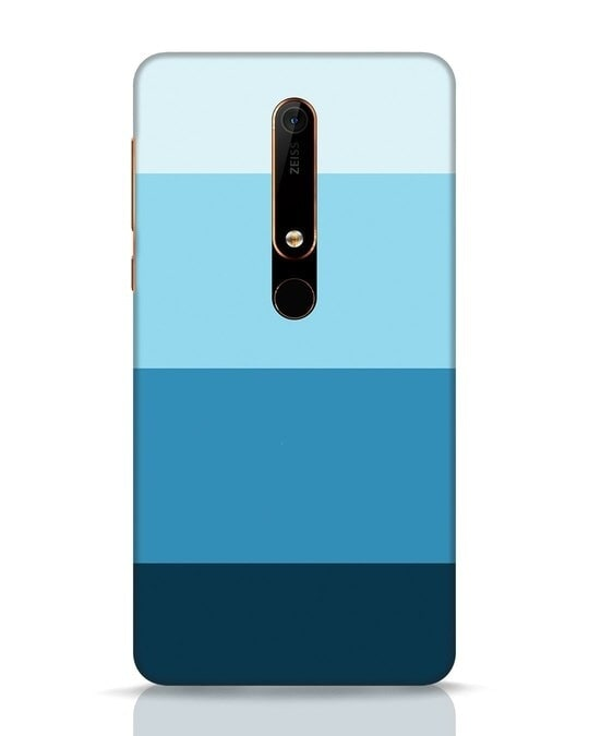 Shop Blue Ombre Stripes Nokia 6.1 Mobile Cover-Front