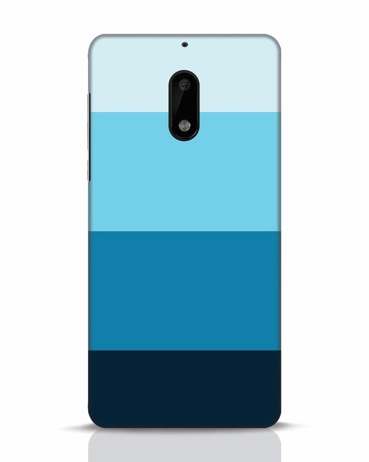 Shop Blue Ombre Stripes Nokia 6 Mobile Cover-Front