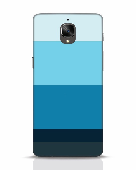 Shop Blue Ombre Stripes OnePlus 3 Mobile Cover-Front
