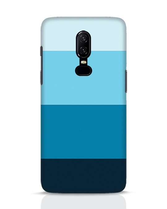 Shop Blue Ombre Stripes OnePlus 6 Mobile Cover-Front