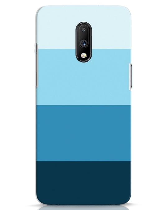Shop Blue Ombre Stripes OnePlus 7 Mobile Cover-Front